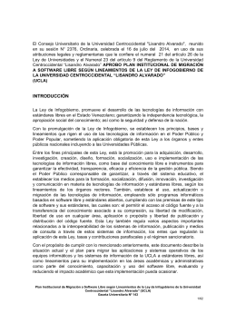 Plan Institucional de Migración a Software Libre según