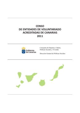 Censo Voluntariado - Gobierno de Canarias