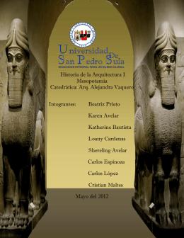 informe mesopotamia - Historia de la Arquitectura USPS