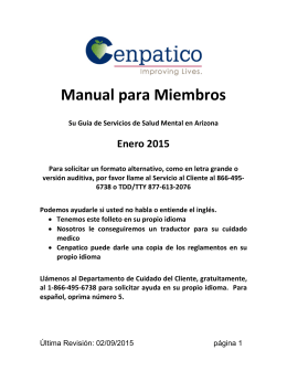 servicios médicos - Cenpatico Integrated Care AZ Cenpatico