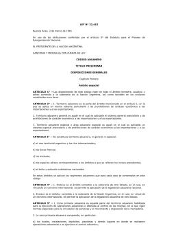 LEY 22415 cod aduanero