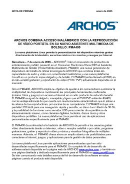 ARCHOS consigue superar los 150 000 reproductores de vídeo