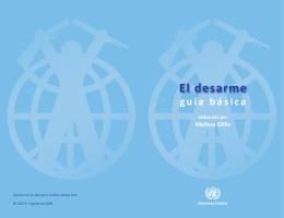 El desarme: Guía básica