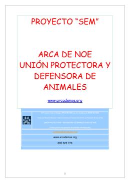 """proyecto """"sem"""" arca de noe unión protectora y defensora de animales"""
