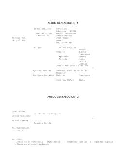arbol genealogico 1 arbol genealogico 2