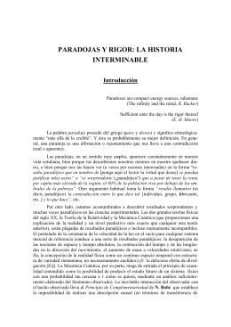 paradojas y rigor - Facultad de Ciencias Matemáticas