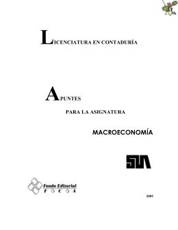 Apuntes de Macroeconomía. UNAM-FCA
