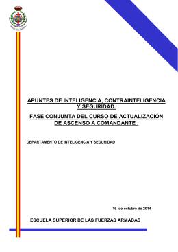 APUNTES DE INTELIGENCIA, CONTRAINTELIGENCIA Y