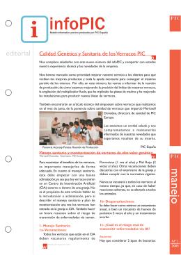 InfoPIC nº 1 – Calidad genética y sanitaria de los verracos PIC
