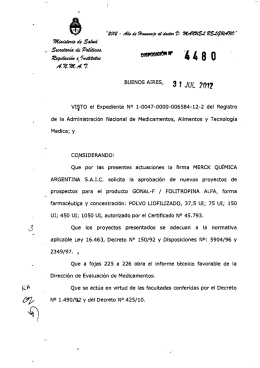 Disposición 4480 - 12