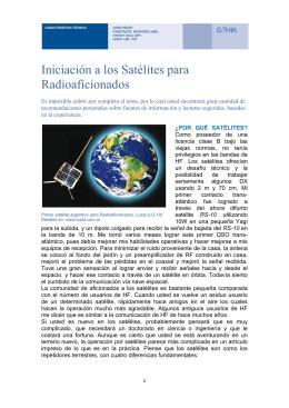 Iniciación a los Satelites