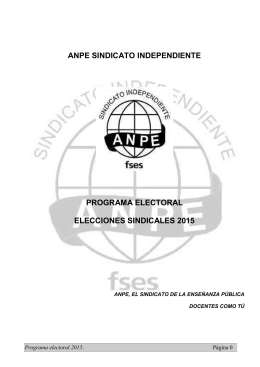 ANPE SINDICATO INDEPENDIENTE