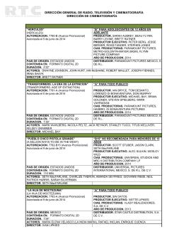 Junio 2014 - Dirección General de Radio, Televisión y Cinematografía
