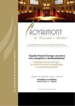 Les Entretiens de Ro y aumont • Madrid España-Francia