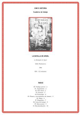 CINE E HISTORIA Cuaderno de trabajo LA BATALLA