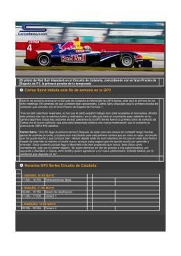 Carlos Sainz debuta este fin de semana en la GP3 Horarios