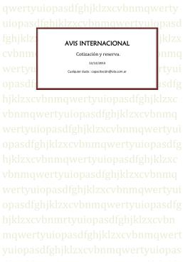 AVIS INTERNACIONAL