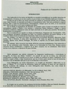 Heraclito Sobre la Naturaleza - Instituto de Investigaciones