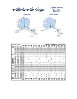 Freighter & Combi Schedule