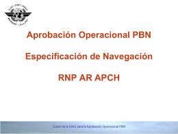 Aprobación Operacional PBN Especificación de Navegación