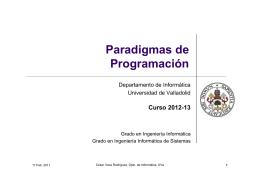 Paradigmas de Programación - Departamento de Informática