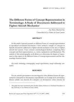 The different forms of concept representation in terminology: a study