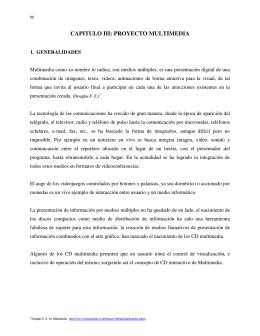 CAPITULO III: PROYECTO MULTIMEDIA