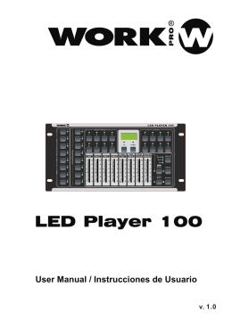 LED PLAYER 100 – Manual - SIRS-E
