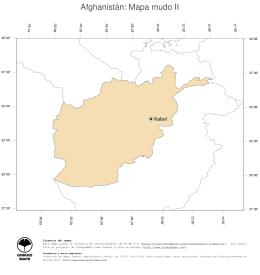 Afghanistán: Mapa mudo II