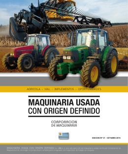 Maquinaria Usada - Corporación de Maquinaria