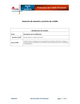 Gerencia de asesoría y servicios de crédito