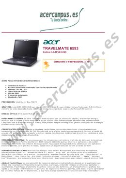 TRAVELMATE 6593 - AcerCampus Tu tienda acer online