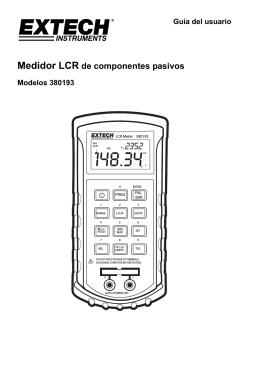 Medidor LCR de componentes pasivos