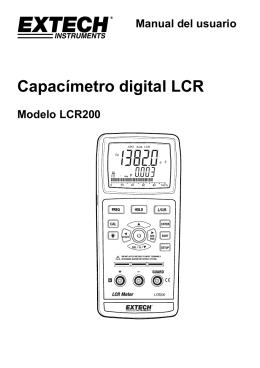 Capacímetro digital LCR