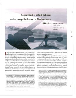 Seguridad y salud laboral en las maquiladoras de Matamoros, México
