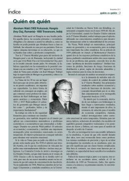 Abraham Wald - Revista Índice
