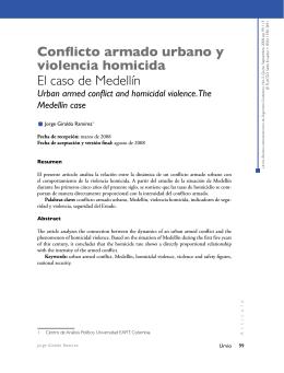 Conflicto armado urbano y violencia homicida