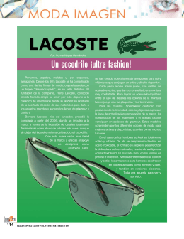lacoste un cocodrilo ultra fashion