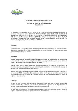CONVENIO EMPRESA PACIFIC FITNESS CLUB Y COLEGIO DE
