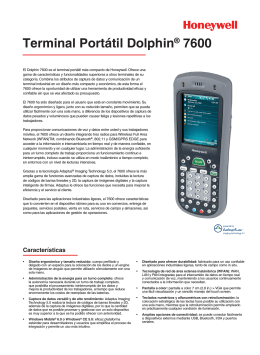 Terminal Portátil Dolphin® 7600 - Honeywell Scanning and Mobility