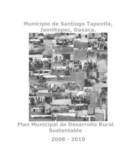 Municipio de Santiago Tapextla, Jamiltepec, Oaxaca. Plan