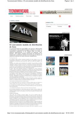 El conveniente modelo de distribución de Zara