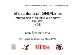 El escritorio en GNU/Linux - OCW Usal