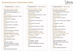 Propuestas para Ceremonias Civiles
