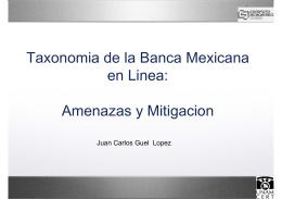 Taxonomia de la Banca Mexicana en Linea: Amenazas y