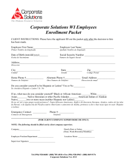 Corporate Solutions WI Employees Enrollment Packet