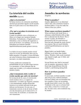 La ictericia del recién nacido (Spanish)
