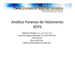Análisis Forense de Volúmenes NTFS