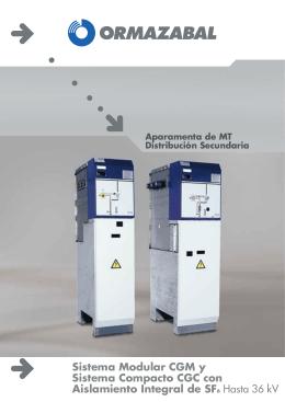 Sistema Modular CGM y Sistema Compacto CGC con Aislamiento