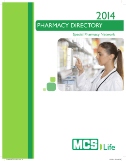 Special Pharmacy Directory